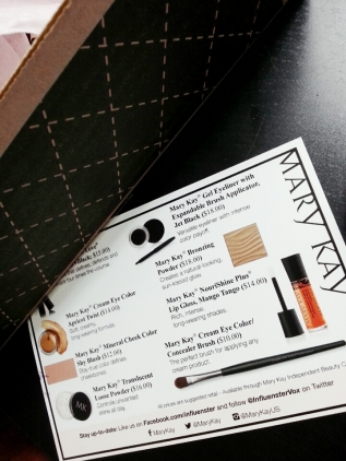 Helpful cheat sheet of all the products included, as well as the pricing, and mini pictures as well.