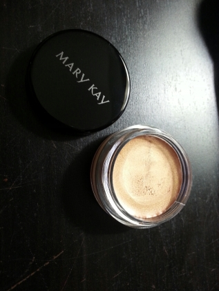 This is the Mary Kay Cream Eye Color in Apricot Twist. This is a beautiful shimmery gold cream eyeshadow. It warms up your lids and gives them a beautiful grecian goddess look.